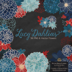AmericanaLucyDahlias package 2 247x247 - New Lucy Dahlia Clipart in 96 Colors