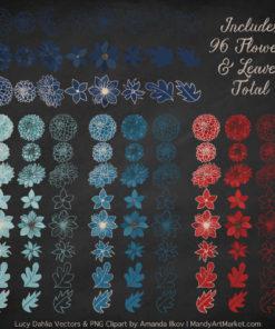 Americana Dahlia Clipart