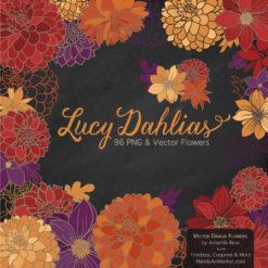 Autumn Dahlia Clipart