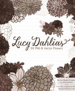Brown Dahlia Clipart