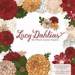 Christmas Dahlia Clipart