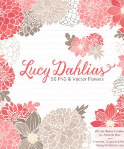 Coral Dahlia Clipart