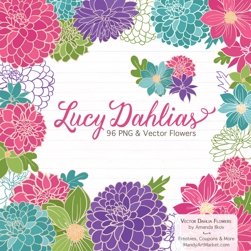 CrayonBoxGirlLucyDahlias package 1 - Product Series