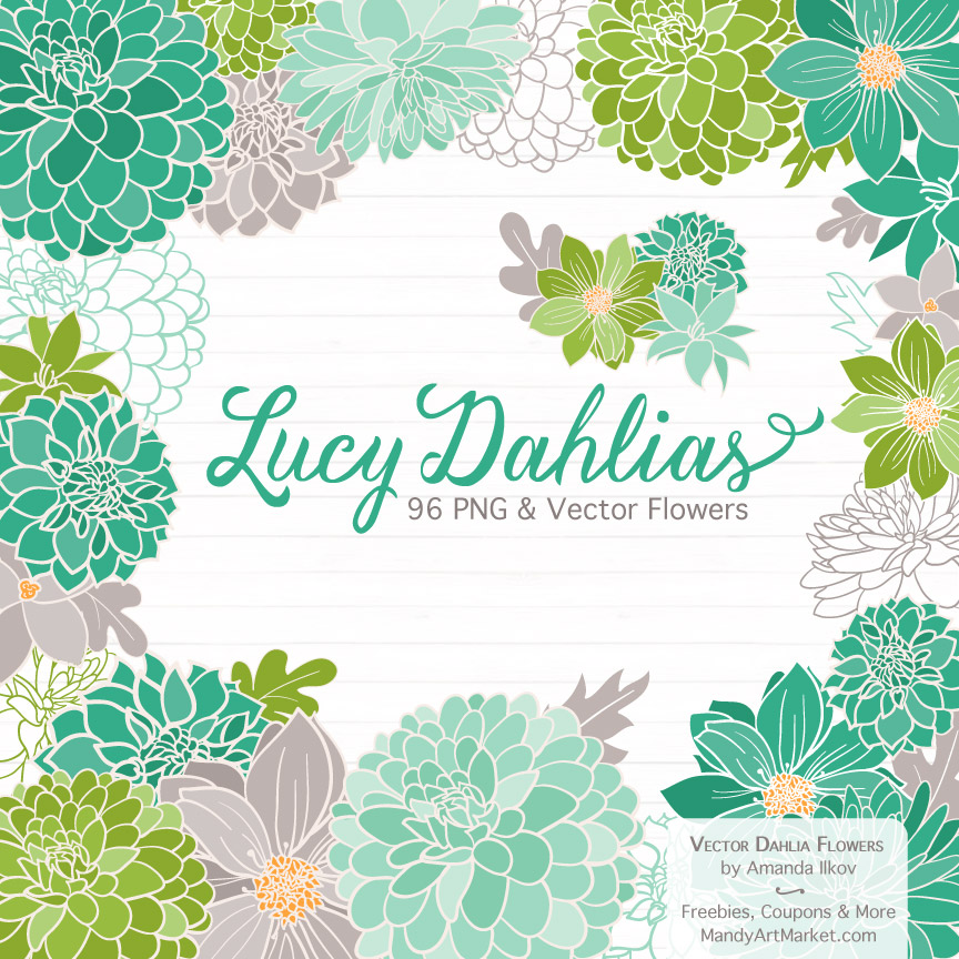 Emerald Isle Dahlia Clipart