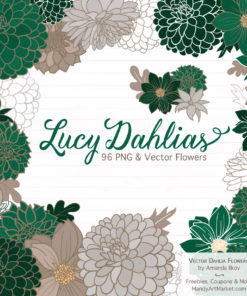 Emerald Dahlia Clipart