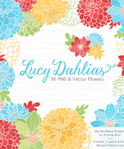 Fresh Boy Dahlia Clipart
