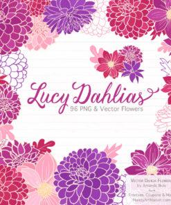 Fuchsia Dahlia Clipart