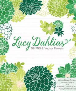 Green Dahlia Clipart