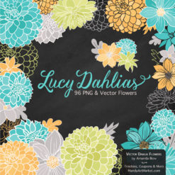 LandSeaLucyDahlias package 2 247x247 - New Lucy Dahlia Clipart in 96 Colors