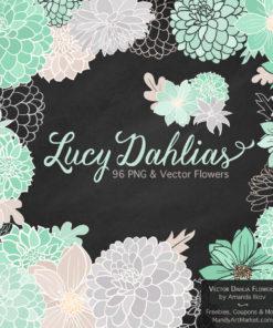 Mint Dahlia Clipart
