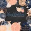 Navy & Peach Dahlia Clipart