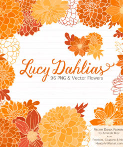 Orange Dahlia Clipart