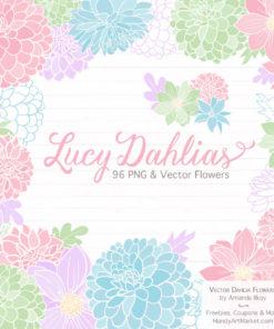 Pastel Dahlia Clipart