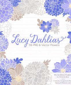 Periwinkle Dahlia Clipart