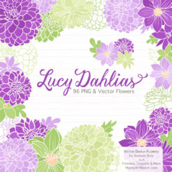 PurpleLimeLucyDahlias package 1 247x247 - New Lucy Dahlia Clipart in 96 Colors
