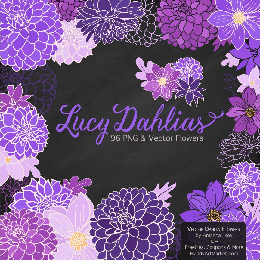 Purple Dahlia Clipart