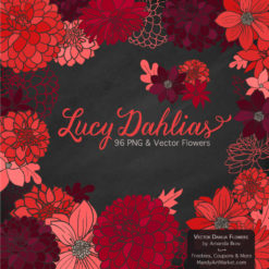Red Dahlia Clipart