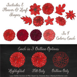 Red Dahlia Clipart