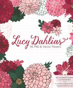 Rose Garden Dahlia Clipart