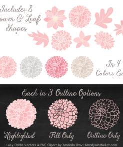 Soft Pink Dahlia Clipart