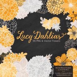 Sunshine Dahlia Clipart