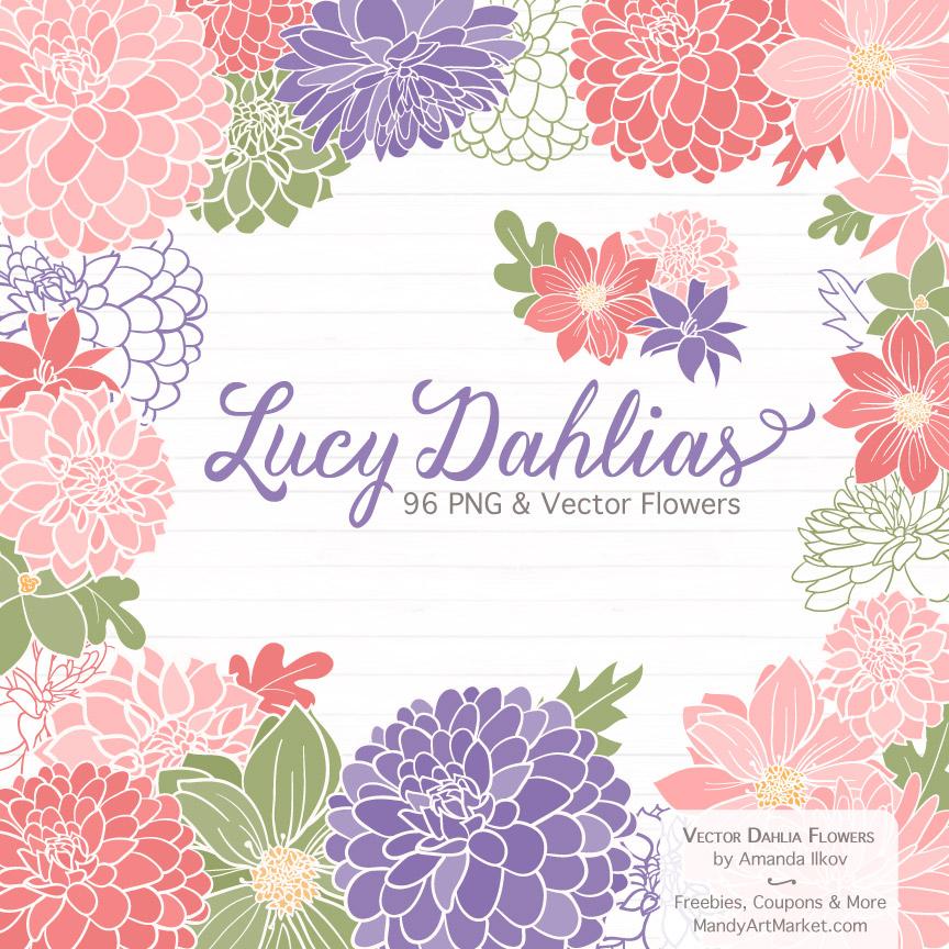 Wildflowers Dahlia Clipart