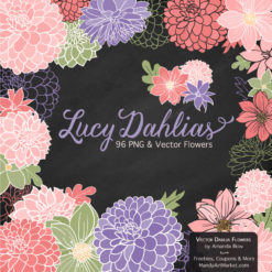 Wildflowers Dahlia Clipart