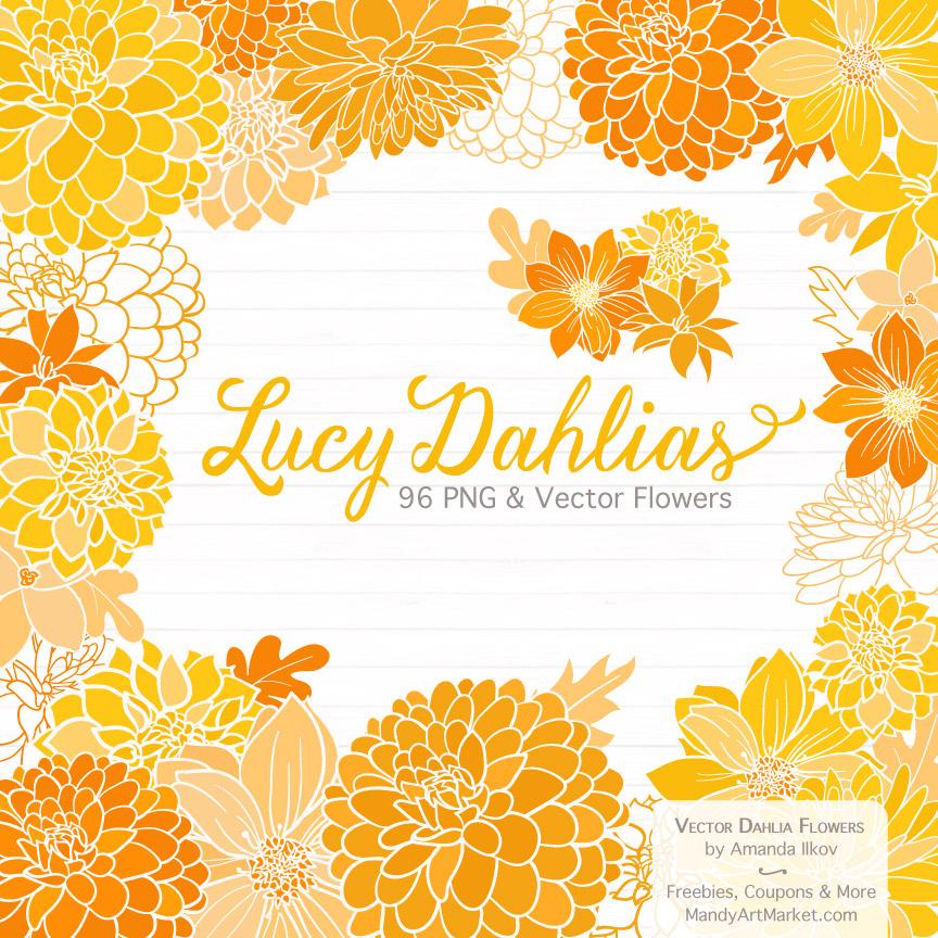 Yellow Dahlia Clipart