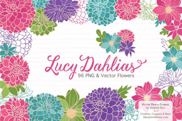 Lucy Dahlia Clipart