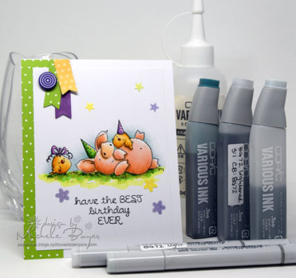 Copic Marker Birthday Card