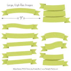 Bamboo Ribbon Banner Clipart