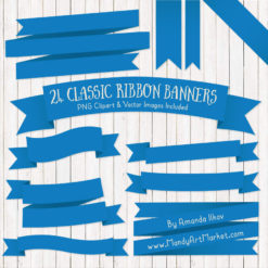 Blue Ribbon Banner Clipart