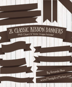 Chocolate Ribbon Banner Clipart