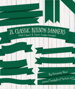 Emerald Ribbon Banner Clipart