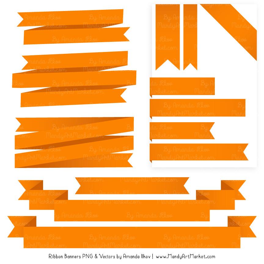 orange ribbon banner clipart rh mandyartmarket com ribbon banner clipart red ribbon banner clipart