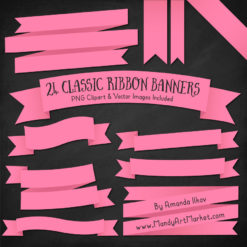 Pink Ribbon Banner Clipart