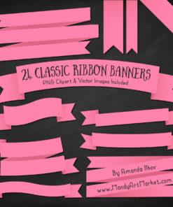 Pink Ribbon Banner Clipart