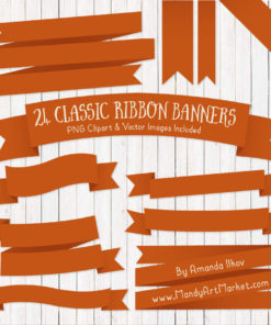 Pumpkin Ribbon Banner Clipart