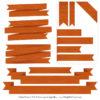 Pumpkin Ribbon Banner Clipart