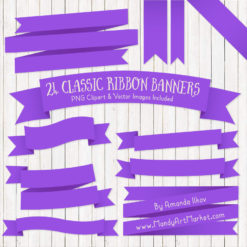 Purple Ribbon Banner Clipart