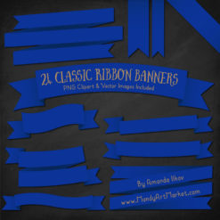 Royal Blue Ribbon Banner Clipart
