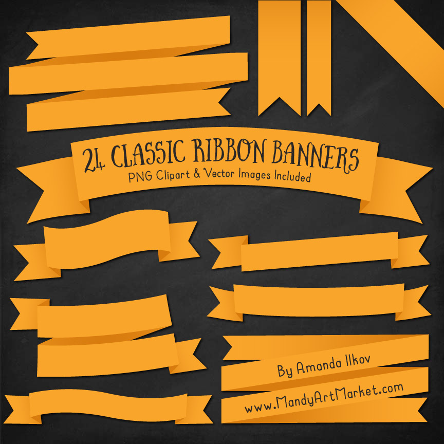 Sunshine Ribbon Banner Clipart