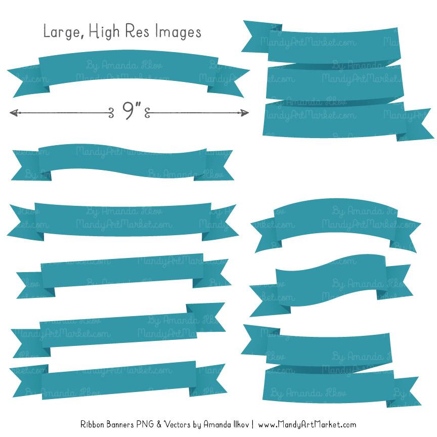 Vintage Blue Ribbon Banner Clipart