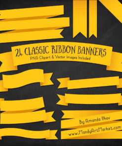 Yellow Ribbon Banner Clipart