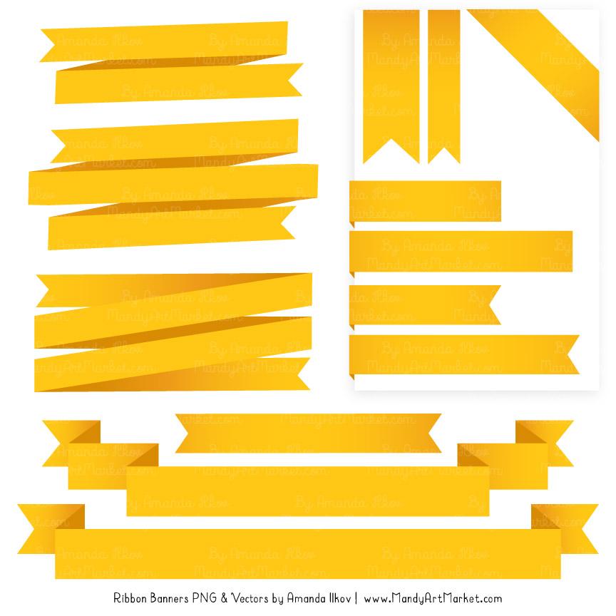 Yellow Ribbon Banner Clipart