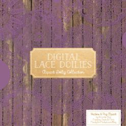 Amethyst Lace Doily Vector Clipart