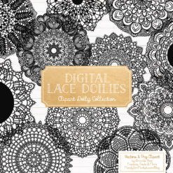 Black Lace Doily Vector Clipart