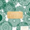 Emerald Lace Doily Vector Clipart