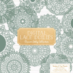 Hemlock Lace Doily Vector Clipart