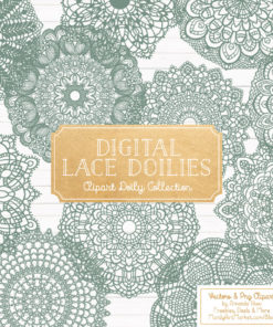 Hemlock Lace Doily Vector Clipart